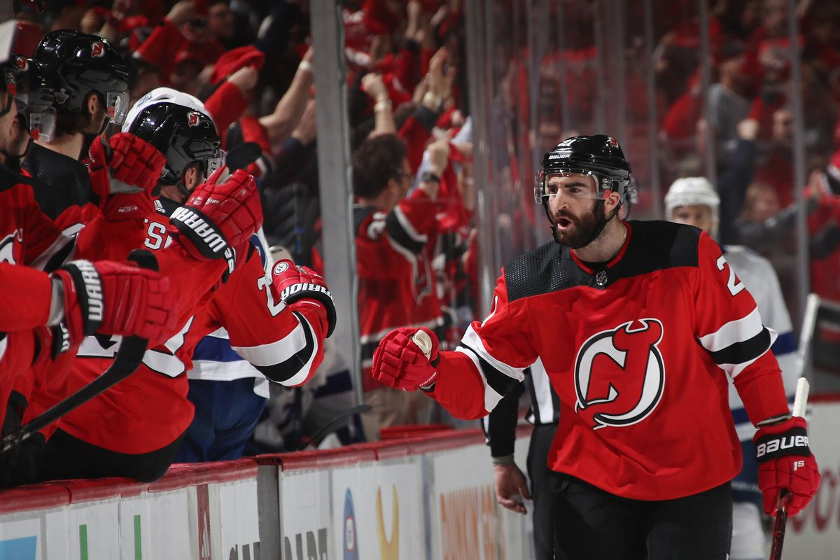 brand new 2463e 8f171 Expectation-Beater Kyle Palmieri & The Devils' Actual Goals ...