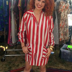 Amy's striped romper was a total standout.