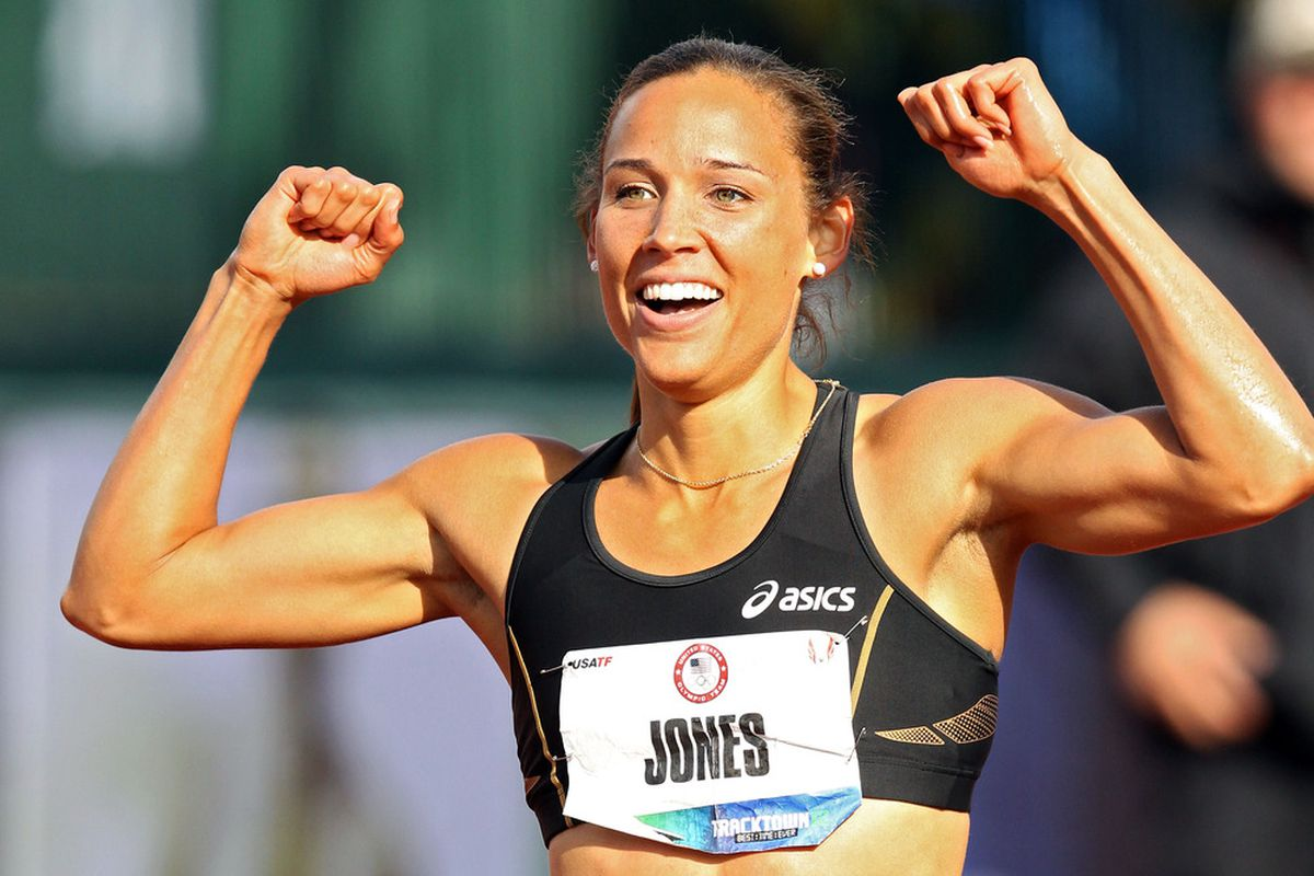 Hurdler Lolo Jones was once again publicly courting Tim Tebow this week. (Photo by Christian Petersen/Getty Images)