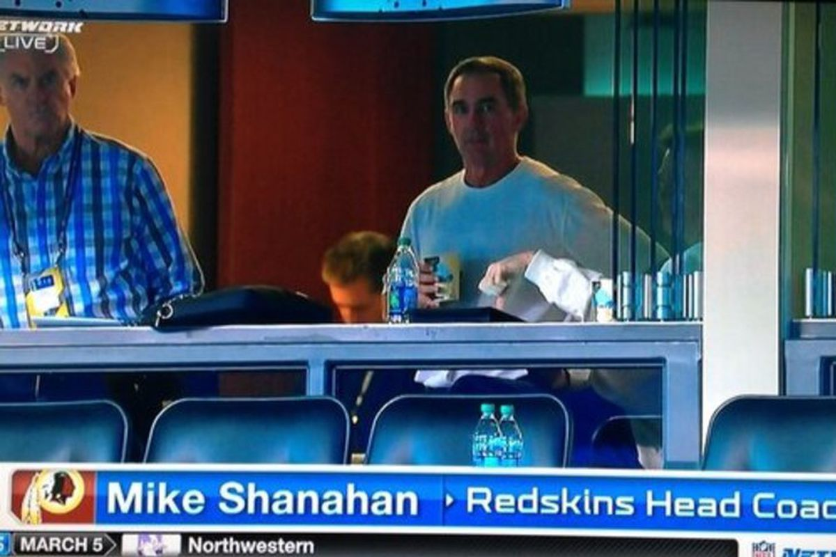 AJ Smith and Shanahan at the combine