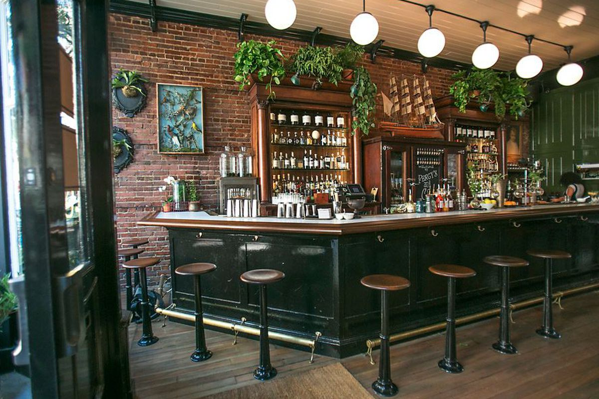 """<a href=""""http://seattle.eater.com/archives/2013/08/21/inside-percys-co-ballards-new-apothecarystyle-bar.php"""">Percy's &amp; Co., Seattle</a>."""