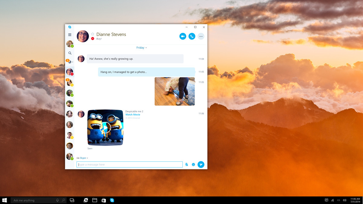 skype universal windows 10-news-Microsoft