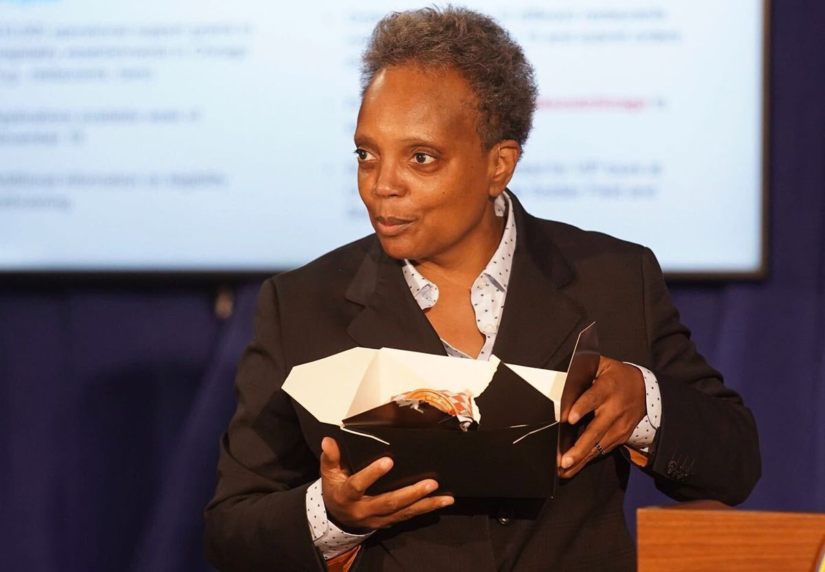 Mayor Lori Lightfoot held a news conference Thursday to discuss additional assistance for struggling bars and restaurants during the coronavirus pandemic.