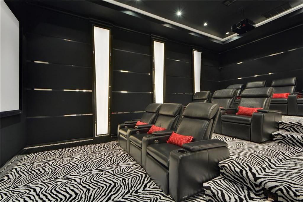Places With Good Sightlines For Watching The Most Important Quality In A Media Room Is Full On Commitment To Wver Bold Style One Chooses