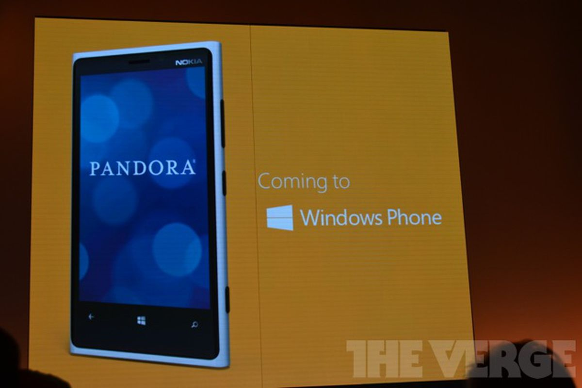 Microsoft confirms Pandora for Windows Phone 8, giving users a year