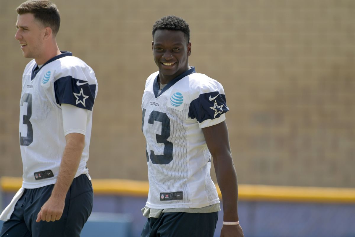 Cowboys 2018 training camp  Michael Gallup makes another circus catch in  Cowboys practice 3f433f831