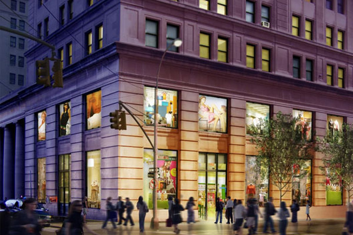 """This is what the Municipal Building could look like. Rendering via <a href=""""http://ny.curbed.com/archives/2010/12/06/another_retail_makeover_for_dobro_uwss_copley_having_a_bad_day.php"""">Curbed NY</a>"""