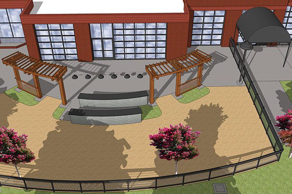 Rendering of future brewery and beer garden