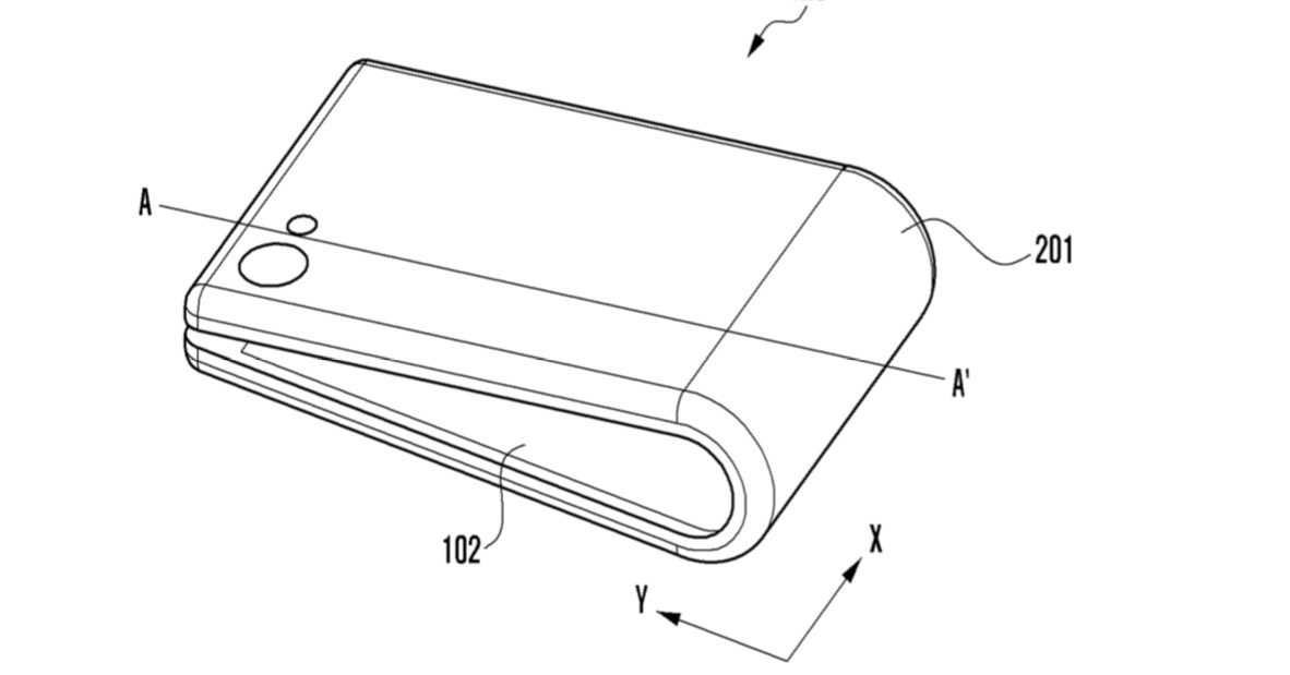 samsung sketches show another foldable phone concept