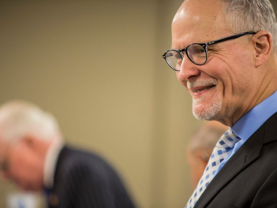 Paul Vallas presents his documentation to run for mayor on the first day of the filing period for Municipal Elections, Monday, November 19th, 2018. | James Foster/For the Sun-Times