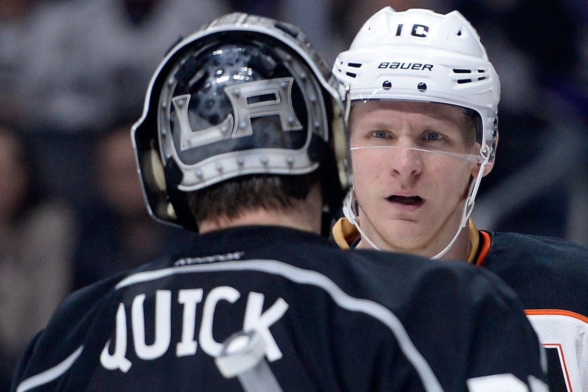 Thoughts From Jonathan Quick on Ryan Getzlaf and Corey Perry