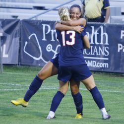 The Sacred Heart Pioneers take on the UConn Huskies in a women's college soccer exhibition game at Morrone Stadium in Storrs, CT on August 7, 2018.