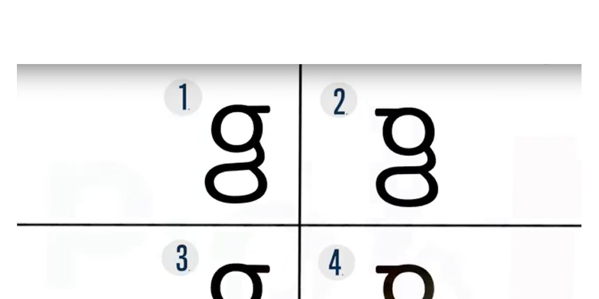 don t be so sure you know what a lowercase g looks like the verge