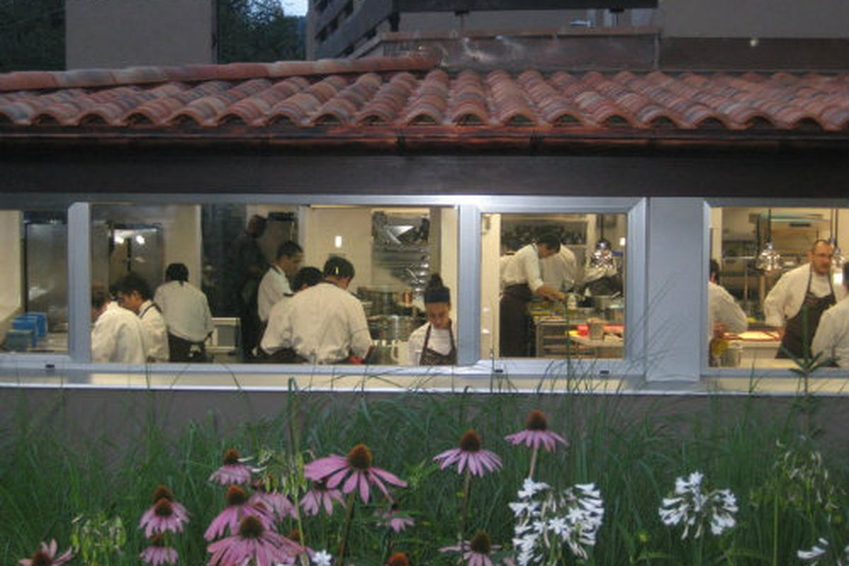 The kitchen staff, and stagiares, of Mugaritz