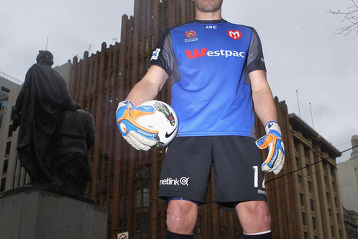 MELBOURNE, AUSTRALIA - AUGUST 17:  Clint Bolton of the Melbourne Heart poses for a portrait after a Melbourne Heart A-League media session at Melbourne City Square on August 17, 2011 in Melbourne, Australia.  (Photo by Robert Cianflone/Getty Images)