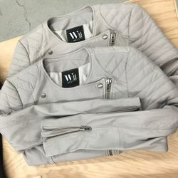 West 14th grey leather moto jacket, $485 (was $785)