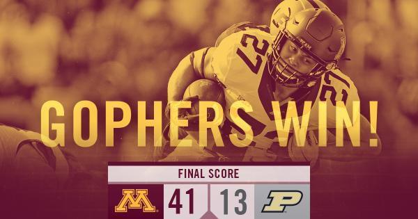 Minnesota Football 2015 defeats Purdue