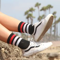 These stripey socks with the teeny-tiny red shorts? Very much yes.