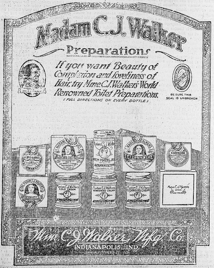 An ad for Madam C.J. Walker's beauty products