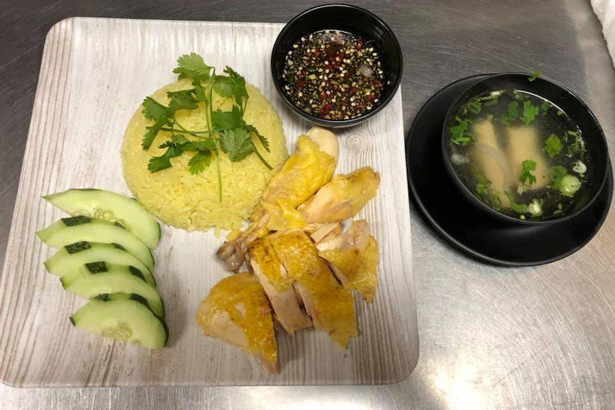 Chicken with rice at Ban Toi Restaurant