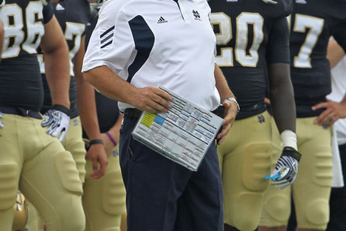Brian Kelly's face will get ever redder against five ACC foes a year . . . uh, wait, ND BCS 2015!!!!