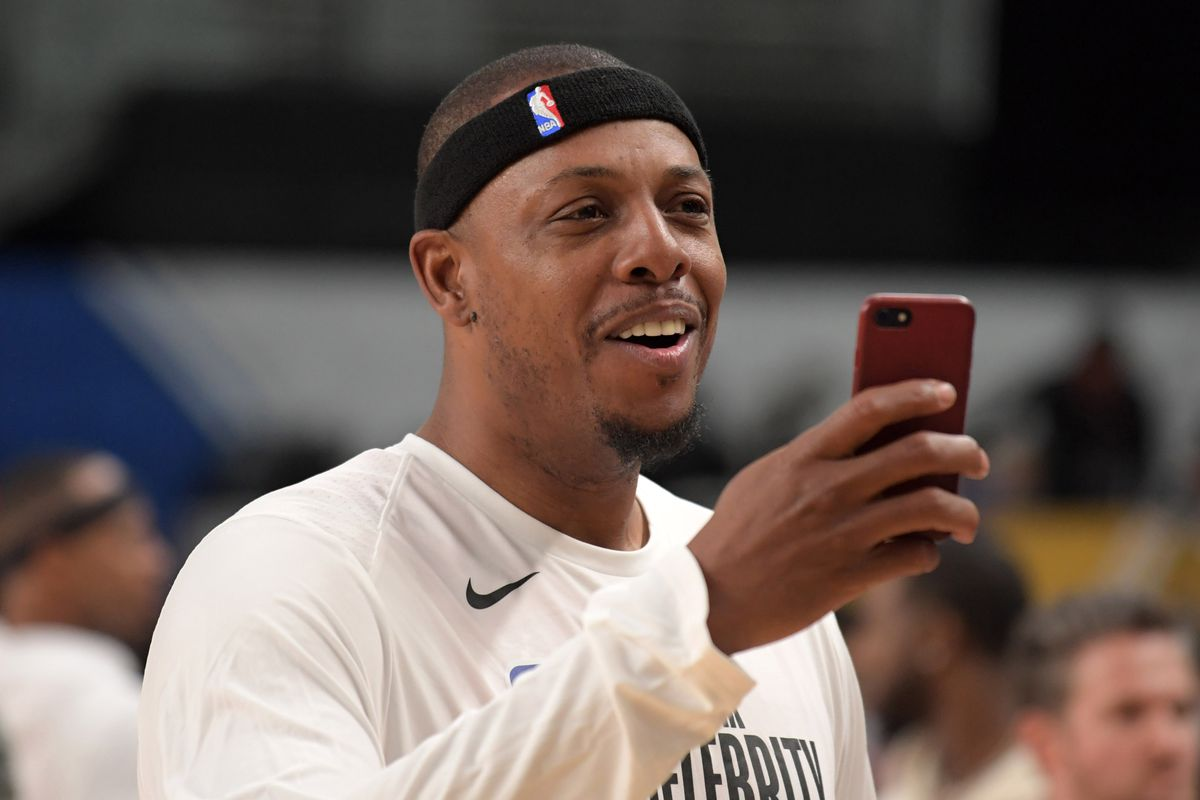 Paul Pierce during the NBA All-Star Celebrity Game at the Los Angeles Convention Center.
