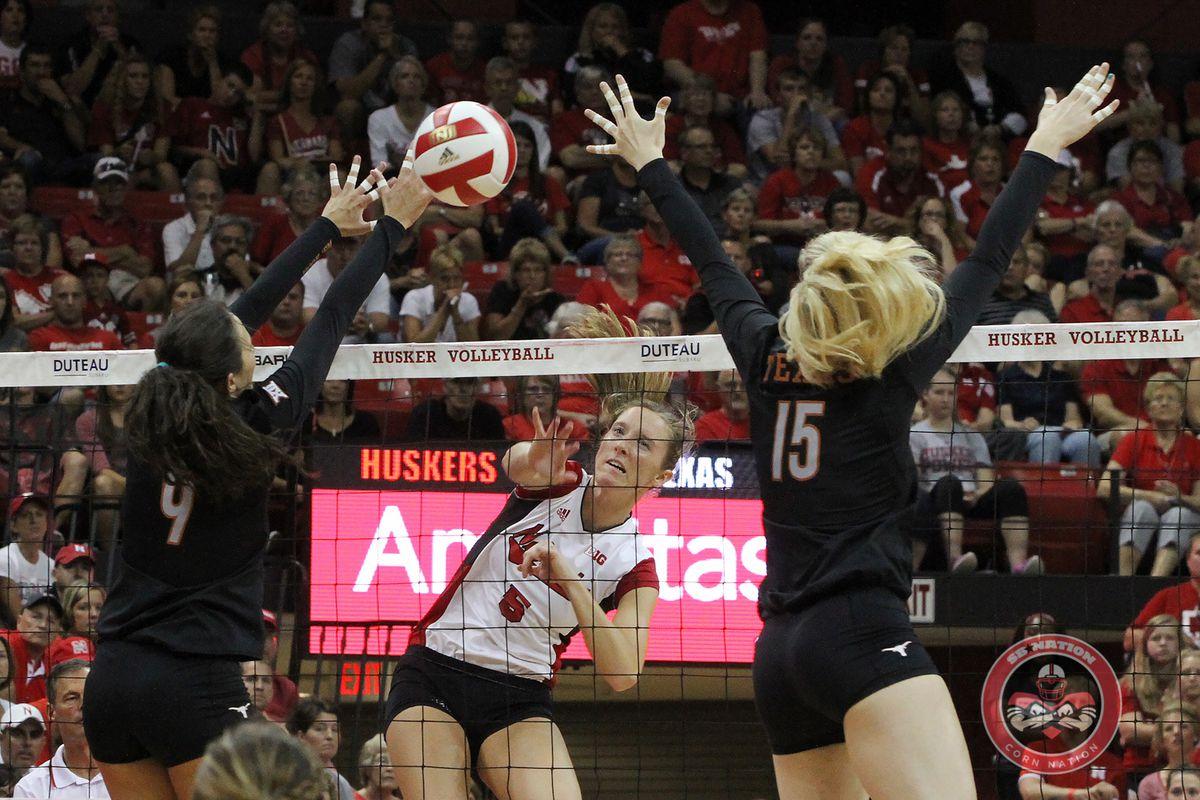 Gallery Photo: Nebraska Volleyball vs Texas: