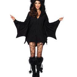 """Hooded bat dress, <a href=""""http://www.spirithalloween.com/product/la-bat-hooded-dress-medium/"""">$50</a>"""