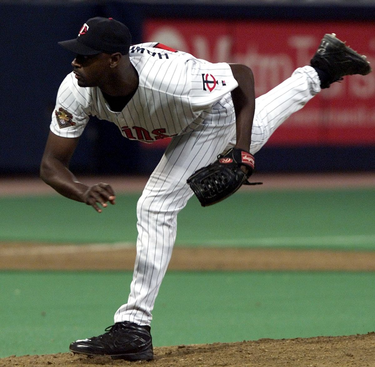Twins reliever LaTroy Hawkins put down the Cincinnati side in the 9th inning to preserve the Twins victory.
