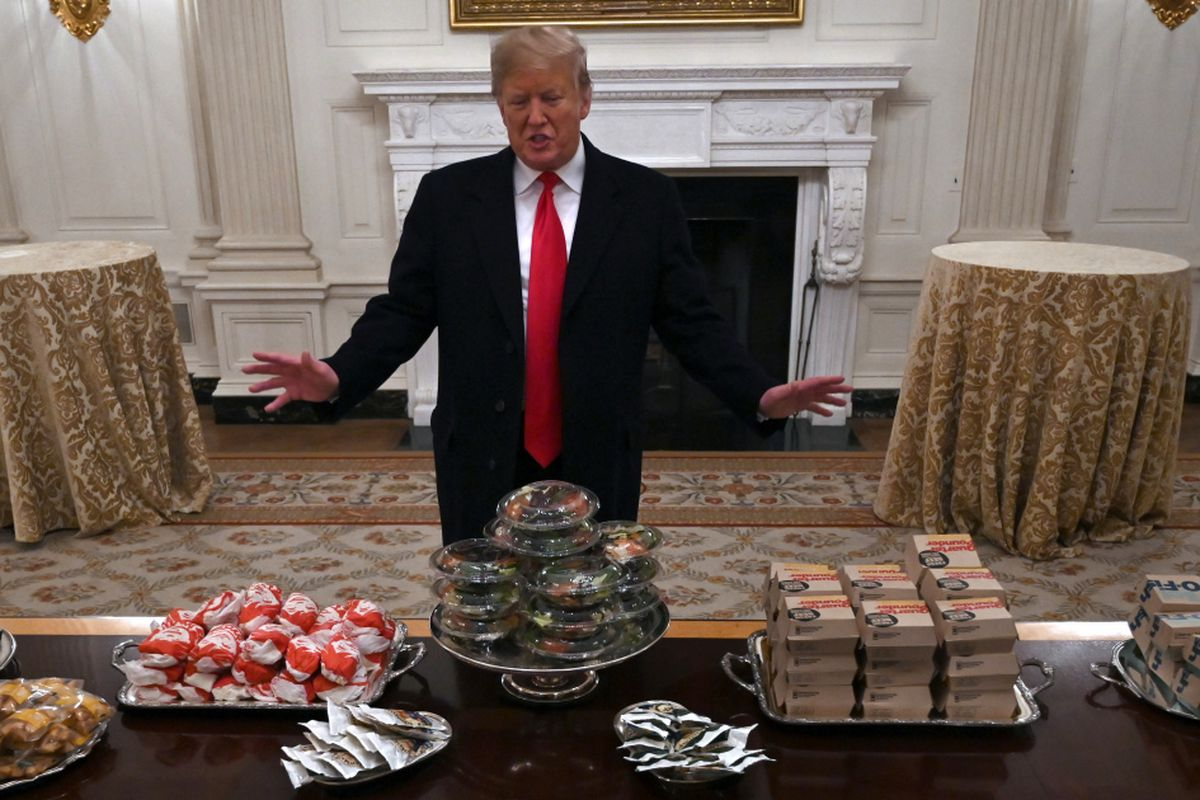 President Donald Trump S Burger Fest Brings Roasting From