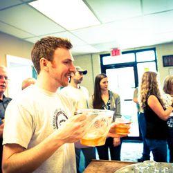 Tasting cider and kombucha at Urban Farm Fermentory in East Bayside