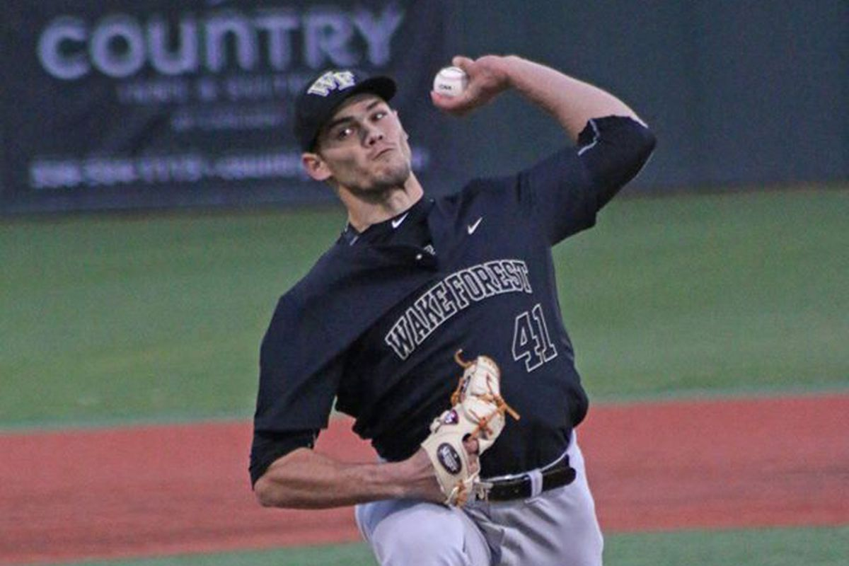 Ryan Morse throws a pitch against Elon on Tuesday night