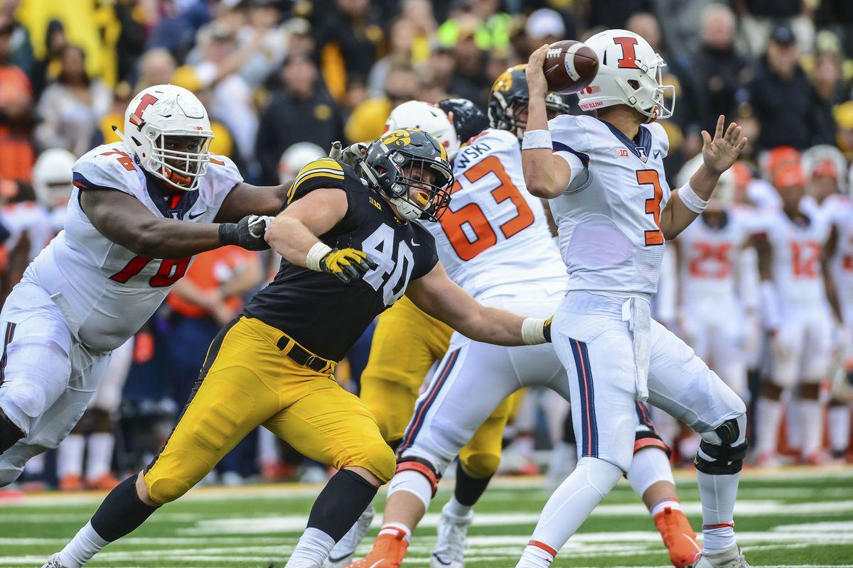 NCAA Football: Illinois at Iowa
