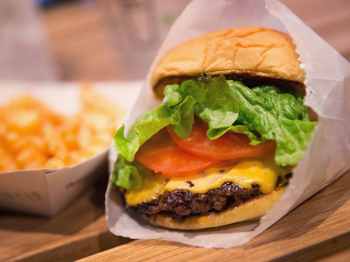 A burger from Shake Shack