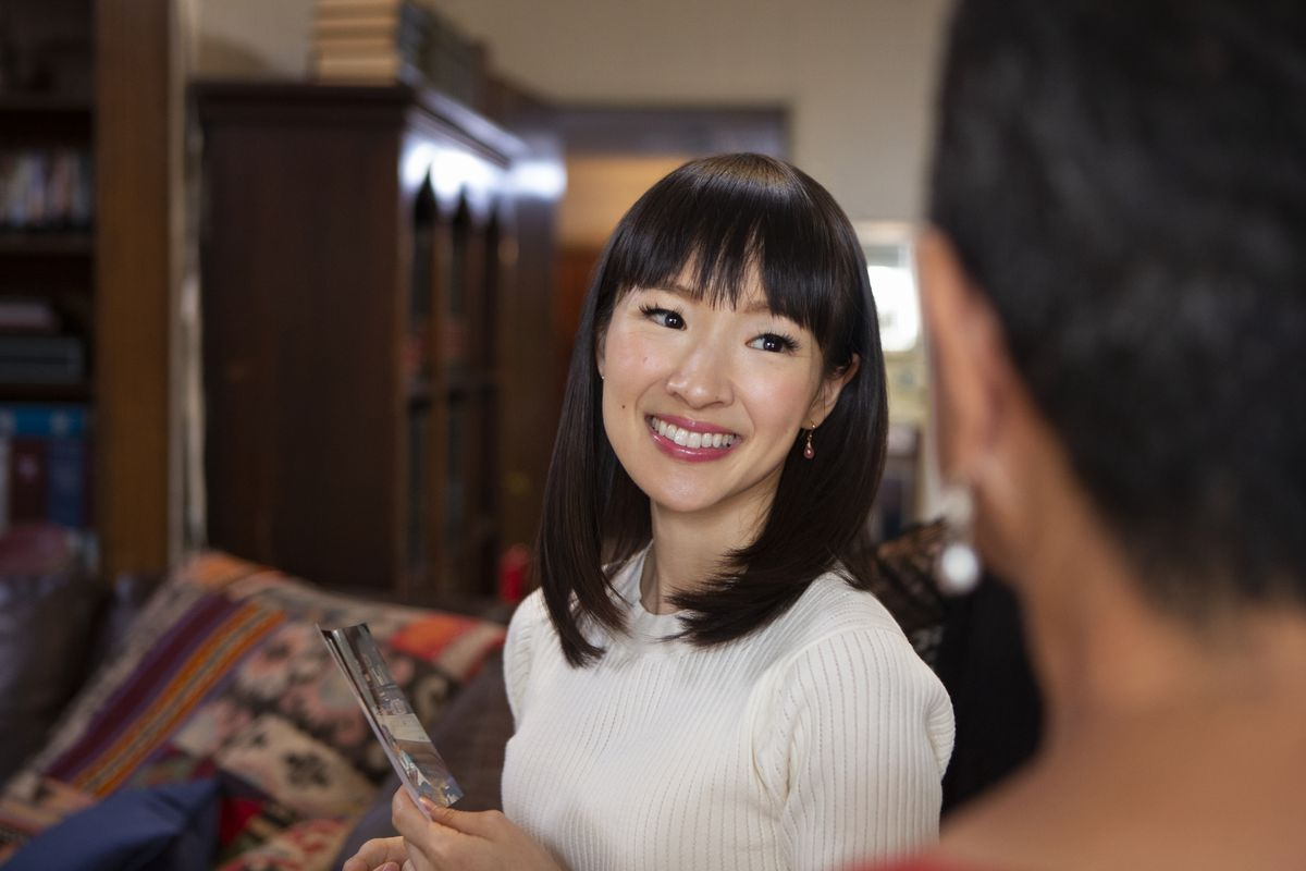 Marie Kondo helps sort through things that you may not need to keep around