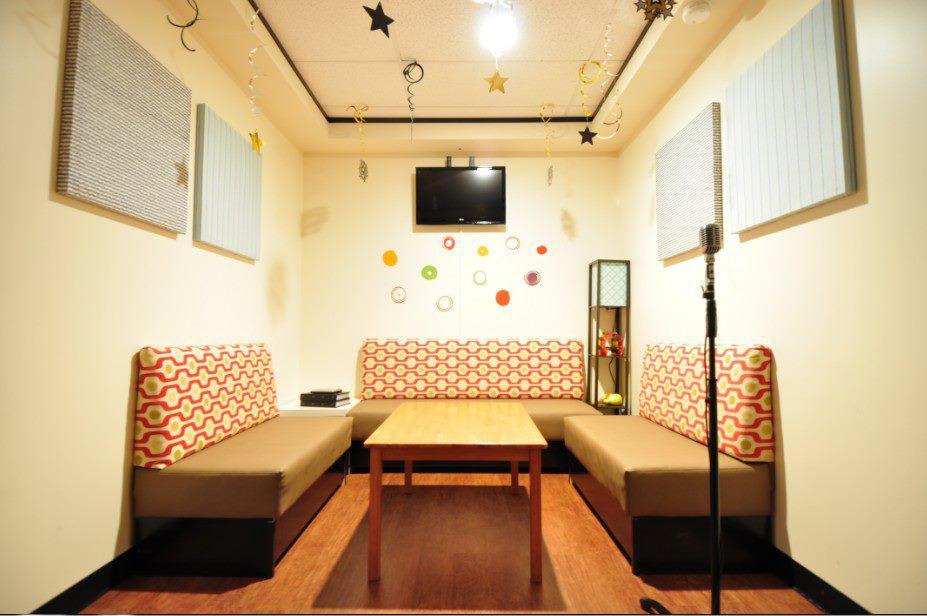 A karaoke room at Hi Tunes