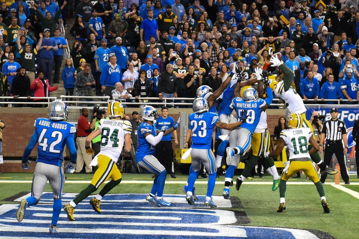 This Is How The Lions Handed The Packers A Game Winning Hail Mary Sbnation Com
