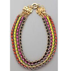 "<a href=""http://www.ccskye.com/home.php"" rel=""nofollow"">CC Skye</a> Neon Multi Chain Necklace ($286) via <a href=""http://www.shopbop.com/neon-multi-chain-necklace-cc/vp/v=1/845524441926696.htm"" rel=""nofollow"">Shopbop</a>. Free 2-day shipping."