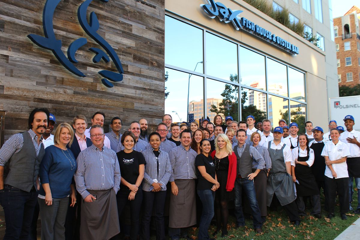 The smiling crew at newly-opened Jax Fish House in Kansas City