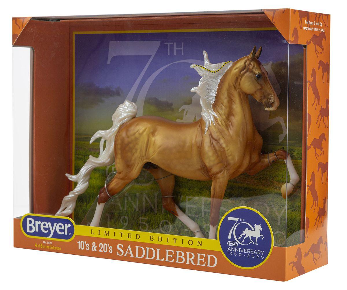 saddlebred breyer horse in box