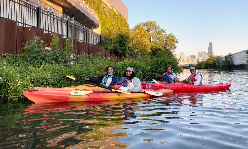"""The Shedd Aquarium's popular """"Kayak for Conservation"""" program."""