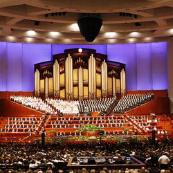 The 182nd Annual General Conference for The Church of Jesus Christ of Latter-day Saints at the LDS Conference Center in Salt Lake City on Saturday, March 31, 2012.