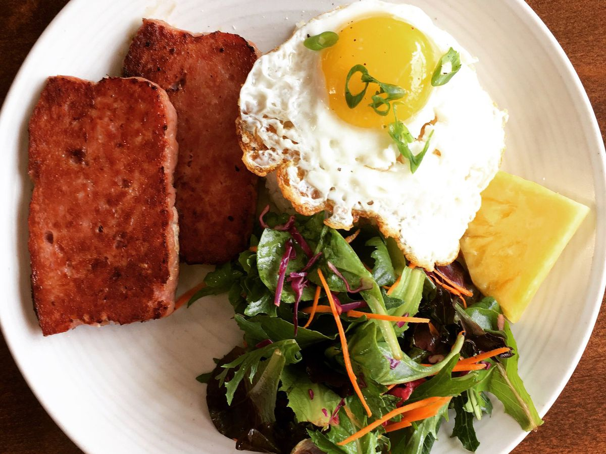 Housemade Spam and egg