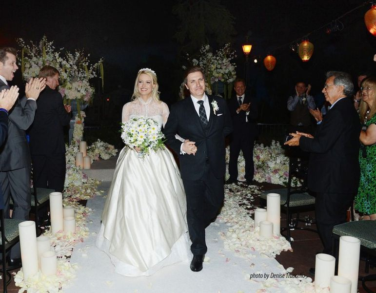 Holly Madison And Pasquale Rotella Walk Down The Aisle