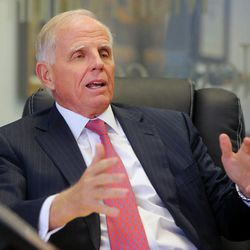 Leo Beus talks with Mormon Times in Salt Lake City in November 2014.