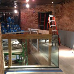 There will be seating and wine storage on Eno Wine Bar's upper level.