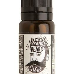 """Regular shampoo dries out facial hair, but this elixir helps condition and cleanse with a fresh woodsy scent. <strong>Mr. Natty</strong> Frank's Beard Elixir, <a href=""""http://decaturandsons.com/products-1/#prettyPhoto[gallery-1450]/2/"""">$12</a> at Decatur"""