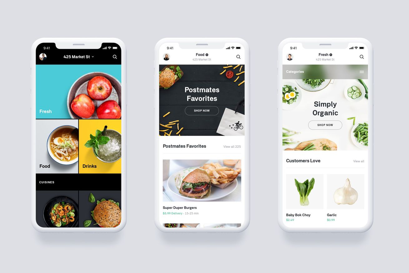 postmates launches on demand grocery delivery to take on amazon and instacart