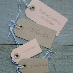 "<strong>Letter & Lark</strong> Gift Tag Set, <a href=""http://letterandlark.bigcartel.com/product/gift-tag-set"">$7</a>"