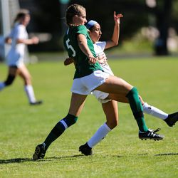 Murray takes on Olympus during a girls soccer game at Olympus High School in Holladay on Thursday, Sept. 3, 2020.